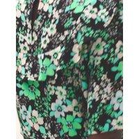 MandS Womens Floral Frill Detail Midaxi Waisted Dress - 6REG - Multi, Multi