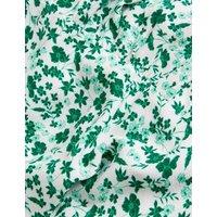 M&S X Ghost Womens Ditsy Floral V-Neck Tie Waist Midi Dress - 10REG - Green Mix, Green Mix