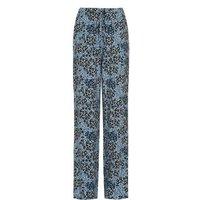 M&S Finery London Womens Animal Print Wide Leg Trousers - 10 - Blue Mix, Blue Mix