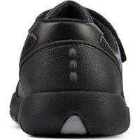 M&S Clarks Unisex Boys Girls Kids' Leather Riptape School Shoes (Kid size 10-2.5) - 12.5E - Black, B