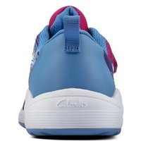 M&S Clarks Unisex Boys Girls Kids' Riptape Trainers (Youth size 3-5.5) - 3G - Pink Mix, Pink Mix