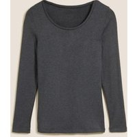 M&S Womens Heatgen Plustm Thermal Long Sleeve Top - 8 - Charcoal, Charcoal