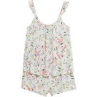 MandS Womens Floral Camisole Short Set - 6 - Oatmeal Mix, Oatmeal Mix