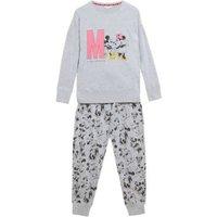 M&S Womens Mickey Mousetm Cotton Rich Pyjama Set - 8 - Grey Mix, Grey Mix