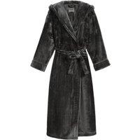 M&S Womens Rosie Fleece Dressing Gown - Dark Grey, Dark Grey