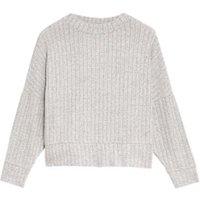 M&S Womens Cosy Lounge Ribbed Sweatshirt - 6 - Grey Mix, Grey Mix