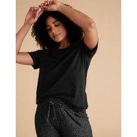 M&S Womens 2pk Cotton Modal Sleep Tee - 6 - Black Mix, Black Mix