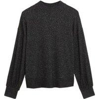 M&S Womens Cosy Knit Lounge Sweatshirt - 8 - Black, Black