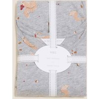 M&S Womens Cotton Rich Squirrel Print Pyjama Set - XS - Grey Mix, Grey Mix