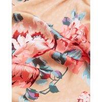 M&S Rosie Womens Satin Floral Print Long Wrap - Pink Mix, Pink Mix