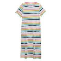 M&S Womens Cotton Stripe Long Nightdress - 6 - Grey Mix, Grey Mix