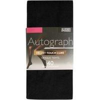 M&S Autograph Womens 40 Denier Velvet Touch Luxe Tights - M - Black, Black