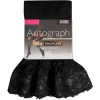 M&S Autograph Womens 60 Denier Velvet Touch Luxe Hold-ups - Black, Black