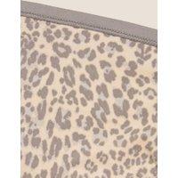 M&S Womens 5pk No VPL Animal Print High Leg Knickers - 8 - Cream C, Cream C