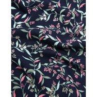 M&S Womens 5pk Cotton Lycra® Leaf Print Full Briefs - 6 - Navy Mix, Navy Mix