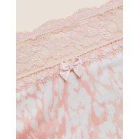 M&S Womens 4pk Cotton High Rise Knicker Shorts - Pink Mix, Pink Mix