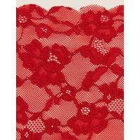 M&S Womens No VPL Free Cut Lace Brazilian Knickers - 6 - Redcurrant, Redcurrant,Black,White,Soft Opa