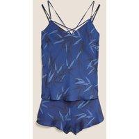 MandS Autograph Womens Graphic Floral Lace Cami Set - 6 - Navy Mix, Navy Mix