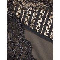 M&S Boutique Womens Scallop Lace High Waist Brazilian Knickers - 8 - Grey Mix, Grey Mix