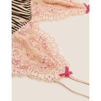 MandS Boutique Womens Signature Satin Striped Cami Set - 8 - Rose Quartz, Rose Quartz