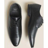 M&S Mens Derby Shoes - 7 - Black, Black