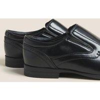 M&S Mens Slip-On Shoes - 6 - Black, Black