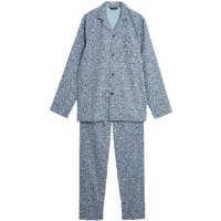 M&S Mens Cotton Ditsy Floral Pyjama Set - Navy Mix, Navy Mix