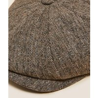 M&S Mens Textured Baker Boy Hat with Thermowarmthtm - S-M - Neutral, Neutral