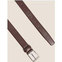 M&S Mens Rectangular Buckle Smart Belt - 30-32 - Dark Brown, Dark Brown,Black