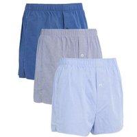 M&S Mens 3pk Pure Cotton Woven Boxers - Chambray, Chambray