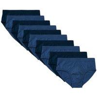 M&S Mens 10pk Cotton Briefs - M - Navy/Blue, Navy/Blue
