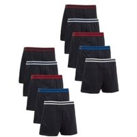 M&S Mens 10pk Pure Cotton Jersey Boxers - M - Navy Mix, Navy Mix
