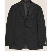 MandS Mens Big and Tall Black Regular Fit Jacket - 40XL, Black