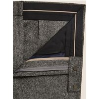 M&S Mens Tailored Fit Italian Wool Trousers - 34REG - Grey, Grey