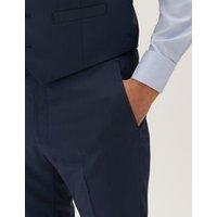 M&S Mens Tailored Fit Waistcoat - SLNG - Indigo, Indigo