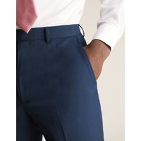 M&S Mens Big & Tall Regular Fit Trousers - 36XL - Indigo, Indigo