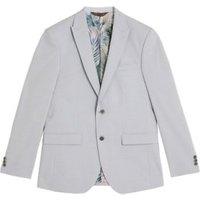 MandS Mens Pastel Slim Fit Jacket with Stretch - 34REG - Blue, Blue