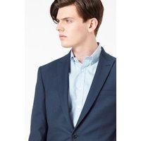 MandS Mens Blue Textured Slim Fit Jacket - 34SHT - Cobalt, Cobalt