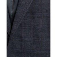MandS Mens Regular Fit Check Jacket - 40SHT - Blue, Blue