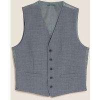 M&S Mens The Ultimate Blue Tailored Fit Waistcoat - MLNG, Blue