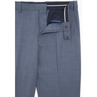 M&S Mens Airforce Blue Regular Fit Wool Trousers - 42SHT, Blue
