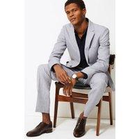 MandS Mens Slim Fit Linen Miracle Jacket - 36MED - Grey, Grey