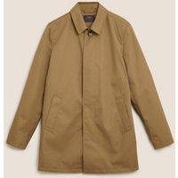 MandS Mens Shirt Collar Mac - SREG - Stone, Stone,Navy