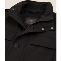 M&S Mens Modern Utility Jacket - S - Black, Black
