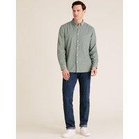 M&S Mens 2 Pack Regular Fit Jeans - 3229 - Medium/Dark, Medium/Dark,Blue/Black,Black,Indigo,Medium B