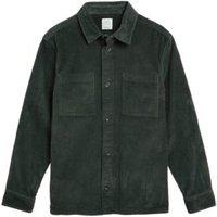M&S Mens The Cord Overshirt - M - Khaki, Khaki,Charcoal,Navy,Toffee