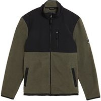 M&S Mens Polar Fleece Jacket - SSTD - Dark Khaki, Dark Khaki,Black