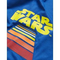 M&S Mens Pure Cotton Star Warstm Graphic T-Shirt - MSTD - Blue, Blue