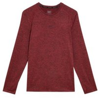 M&S Goodmove Mens Quick Dry Long Sleeve Training Top - SSTD - Bright Red, Bright Red