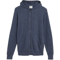 M&S Mens Pure Cotton Knitted Hoodie - XSREG - Navy Mix, Navy Mix,Grey Mix
